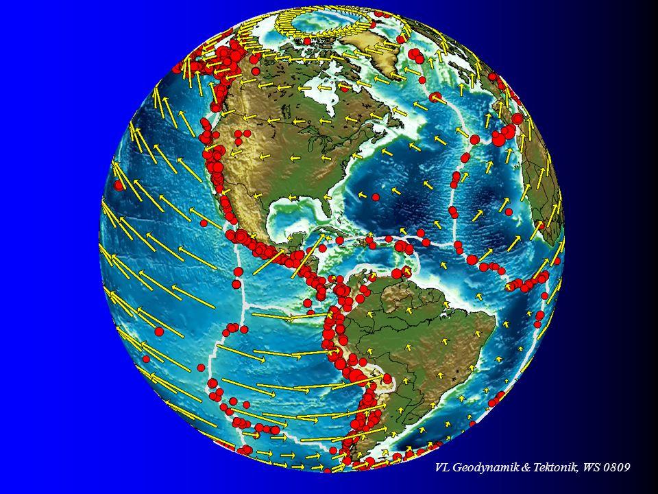 VL Geodynamik & Tektonik, WS 0809 Kollision Indiens mit Eurasien Krustenver- kürzung insgesamt 2000 km in 40 Ma Krustenver- kürzung insgesamt 2000 km in 40 Ma Aus Press & Siever, 1995 (Spektrum Lehrbücher)