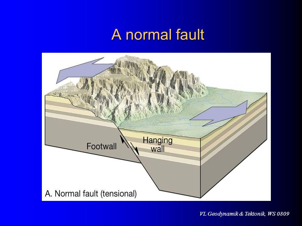 VL Geodynamik & Tektonik, WS 0809 A normal fault