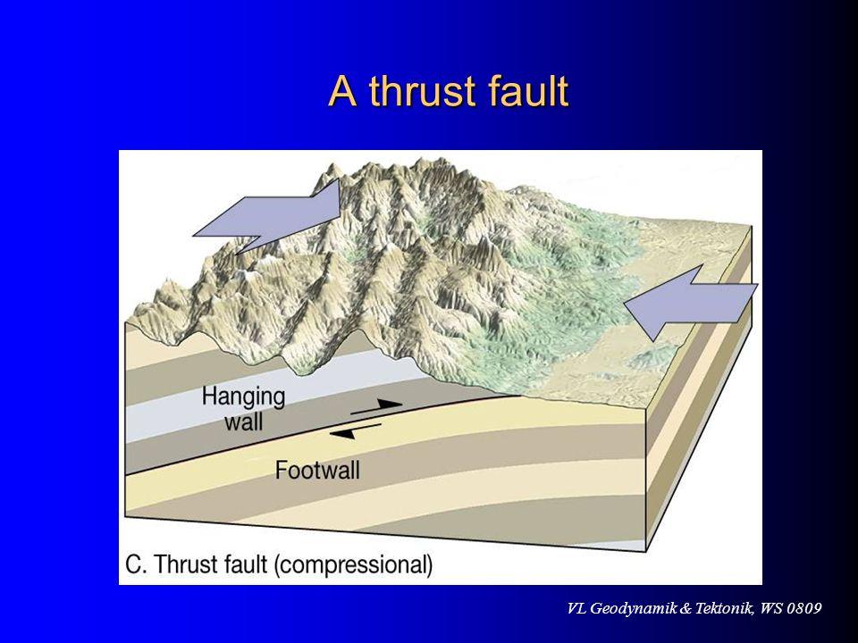VL Geodynamik & Tektonik, WS 0809 A thrust fault