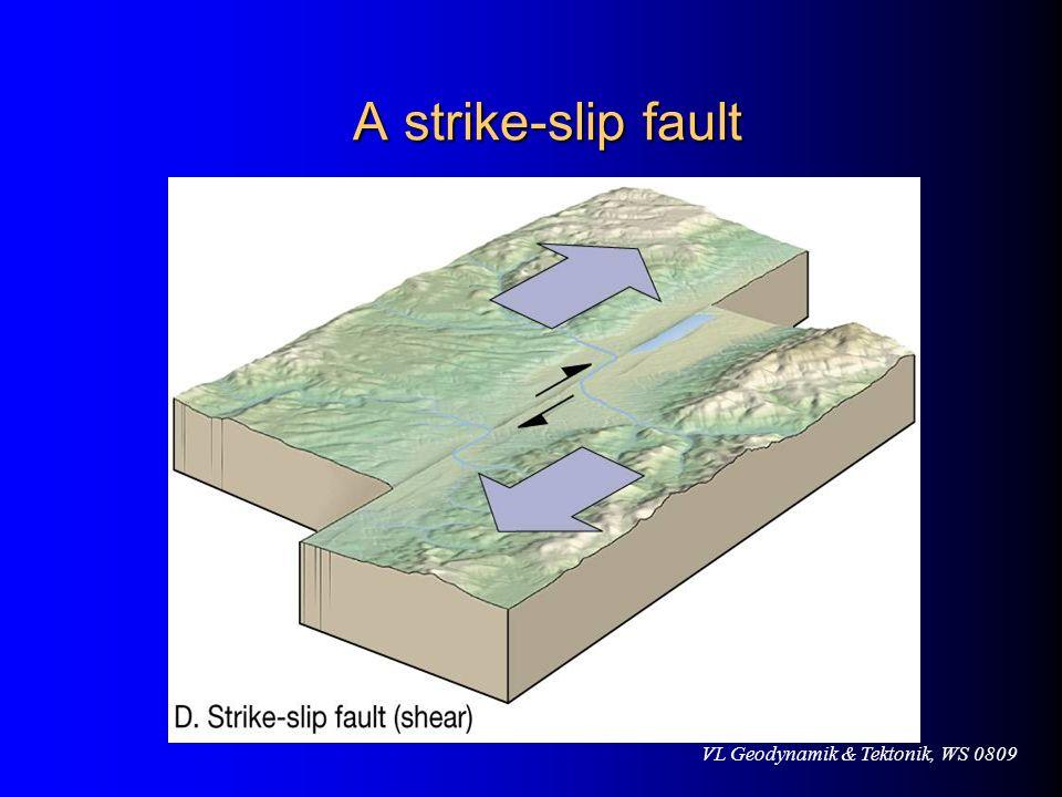 VL Geodynamik & Tektonik, WS 0809 A strike-slip fault A strike-slip fault