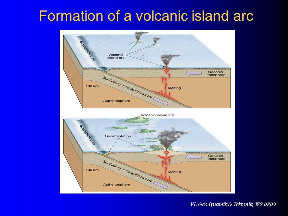 VL Geodynamik & Tektonik, WS 0809 Formation of a volcanic island arc