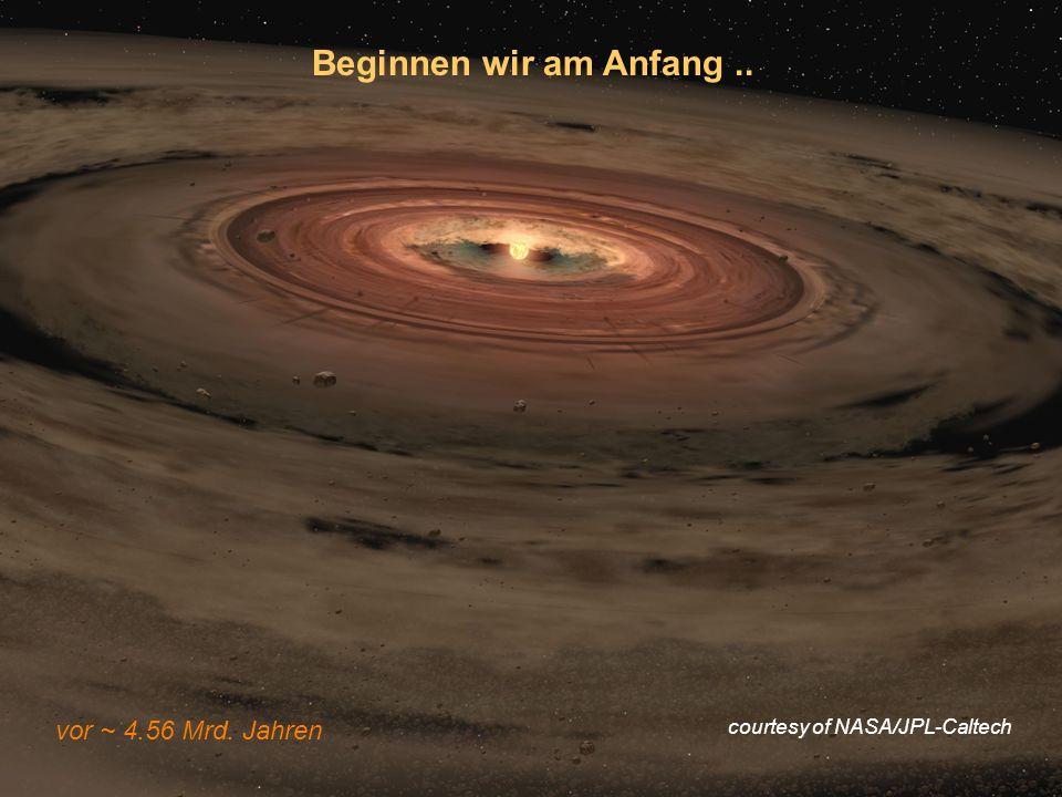 Modul BWP12 09.06.2010 Beginnen wir am Anfang.. vor ~ 4.56 Mrd. Jahren courtesy of NASA/JPL-Caltech
