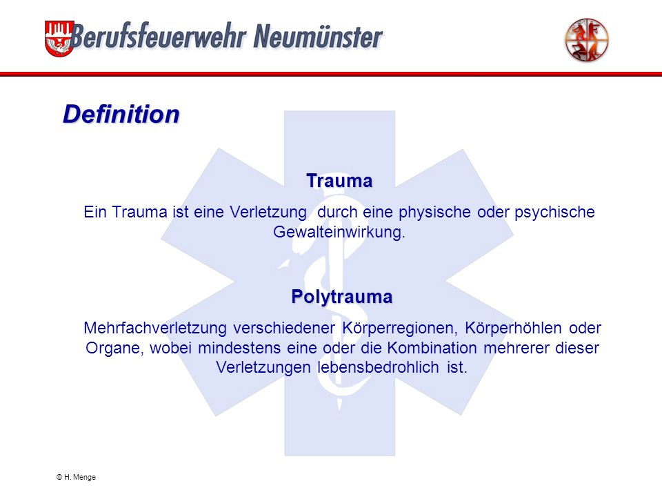 © H.Menge Body-Check - Kopf & Hals Kopf: Wunden .