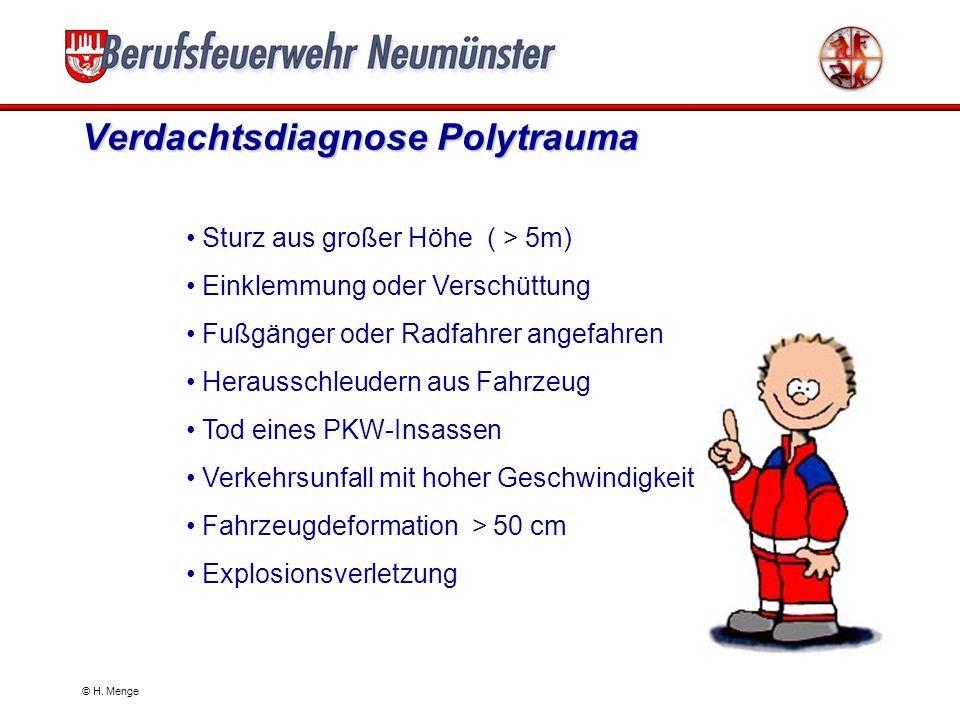 Allgemeines zum Polytrauma In Deutschland führen am häufigsten Unfälle im Straßenverkehr, Arbeits- und häusliche Unfälle zum Polytrauma. Die Gefährdun