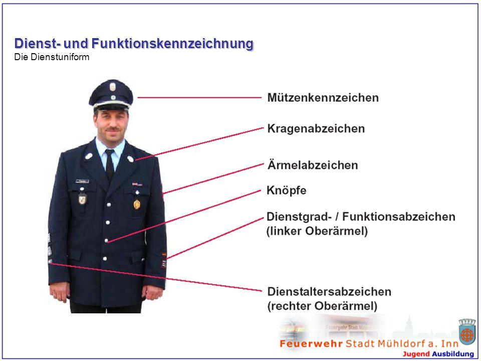 Dienst- und Funktionskennzeichnung Die Dienstuniform