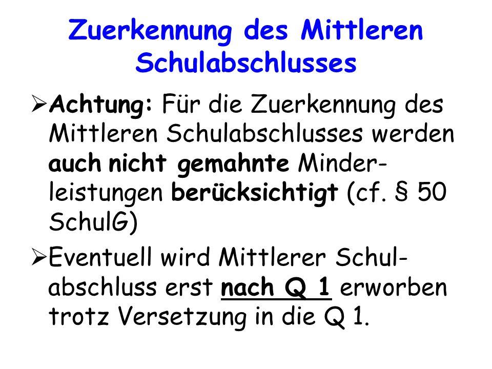 Gesamtqualifikation Summe aus Block I und Block II EF Q1 Q2 Abiturprüfung 2/3 der Gesamtnote (Block I) 1/3 der Gesamtnote (Block II)