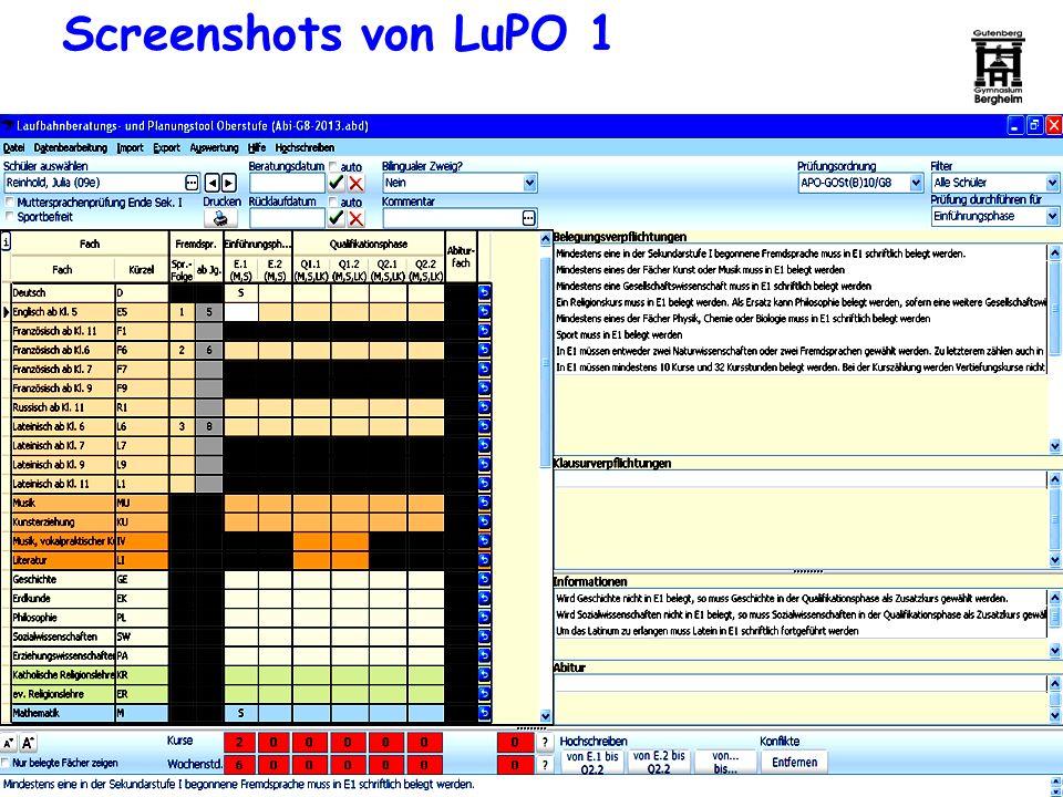 Screenshots von LuPO 1