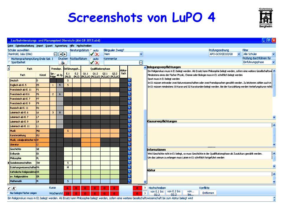 Screenshots von LuPO 4