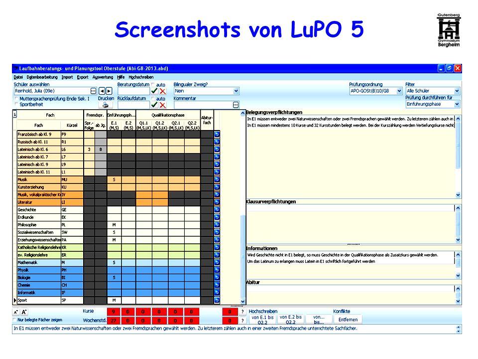 Screenshots von LuPO 5