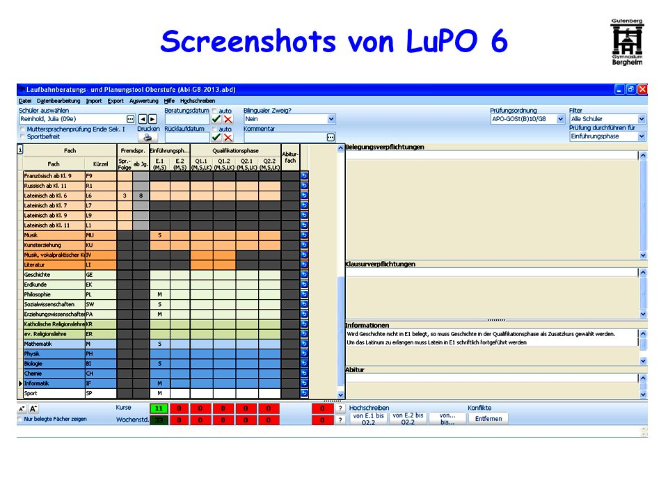 Screenshots von LuPO 6