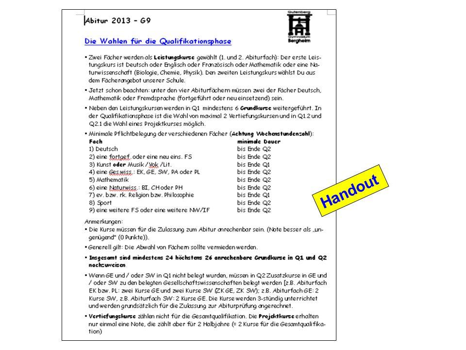 Stufe 11 10 Kurse, d.h.