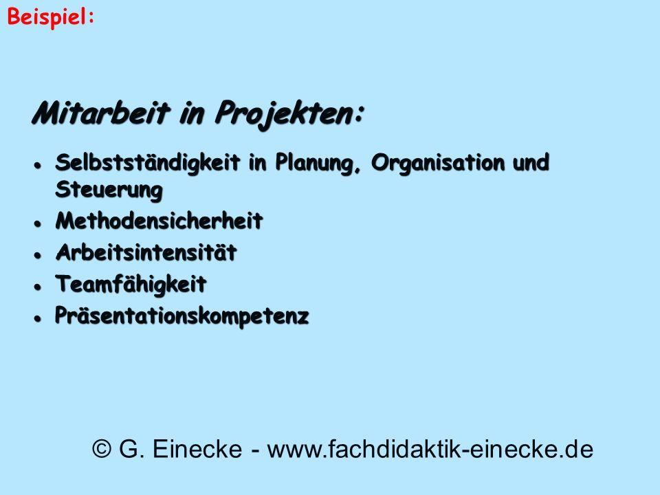 Mitarbeit in Projekten: Selbstständigkeit in Planung, Organisation und SteuerungSelbstständigkeit in Planung, Organisation und Steuerung Methodensiche