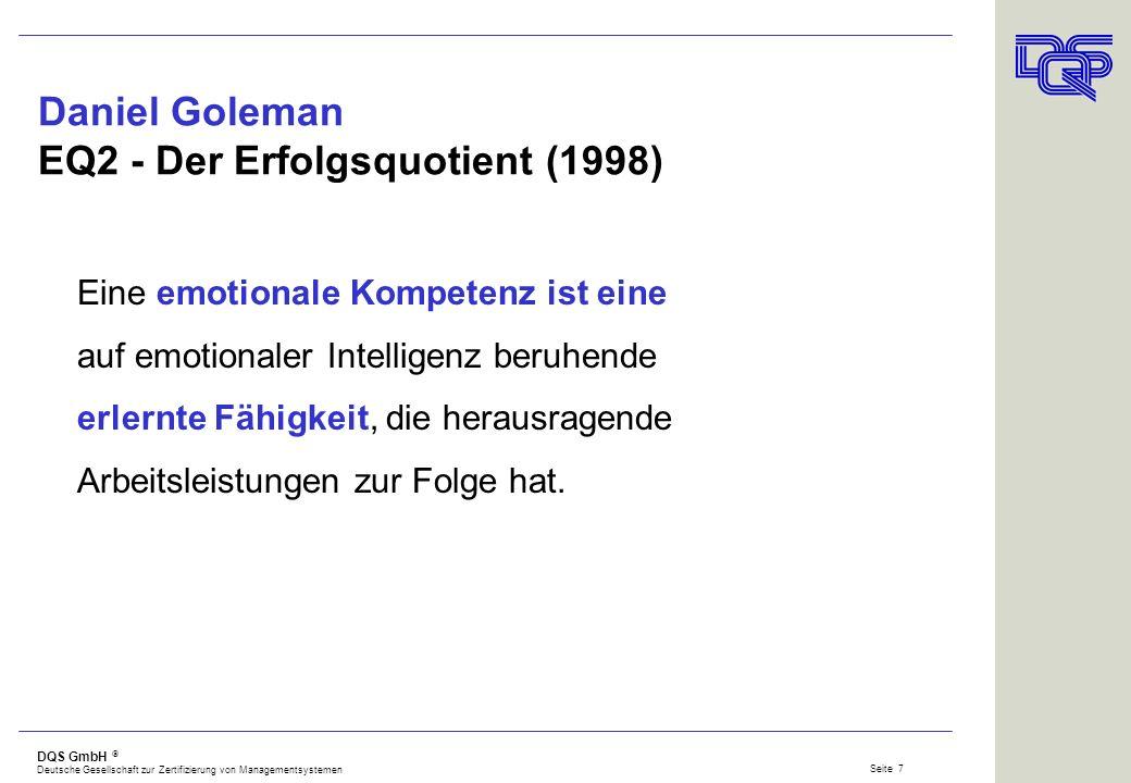 DQS GmbH Deutsche Gesellschaft zur Zertifizierung von Managementsystemen Seite 6 Quellen und Nachweise fachlicher Fähigkeiten nach ISO 9001:2000 Ausbi