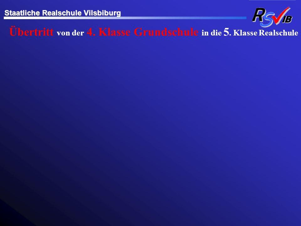 Übertritt von der 4. Klasse Grundschule in die 5. Klasse Realschule Staatliche Realschule Vilsbiburg