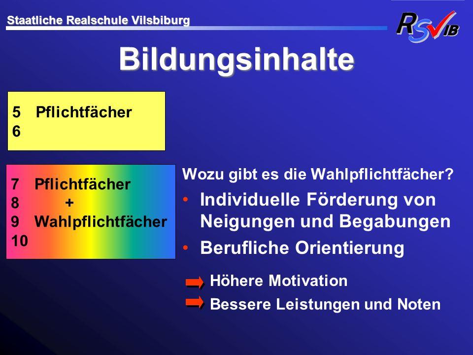 Übertrittsbestimmungen Staatliche Realschule Vilsbiburg