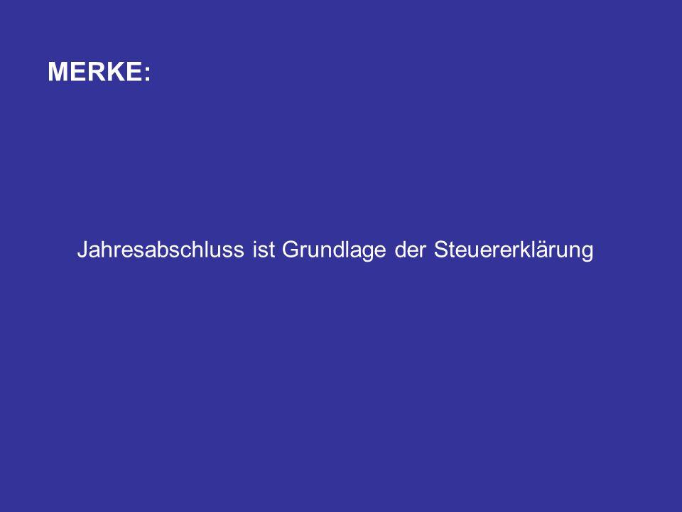 MERKE: Jahresabschluss ist Grundlage der Steuererklärung