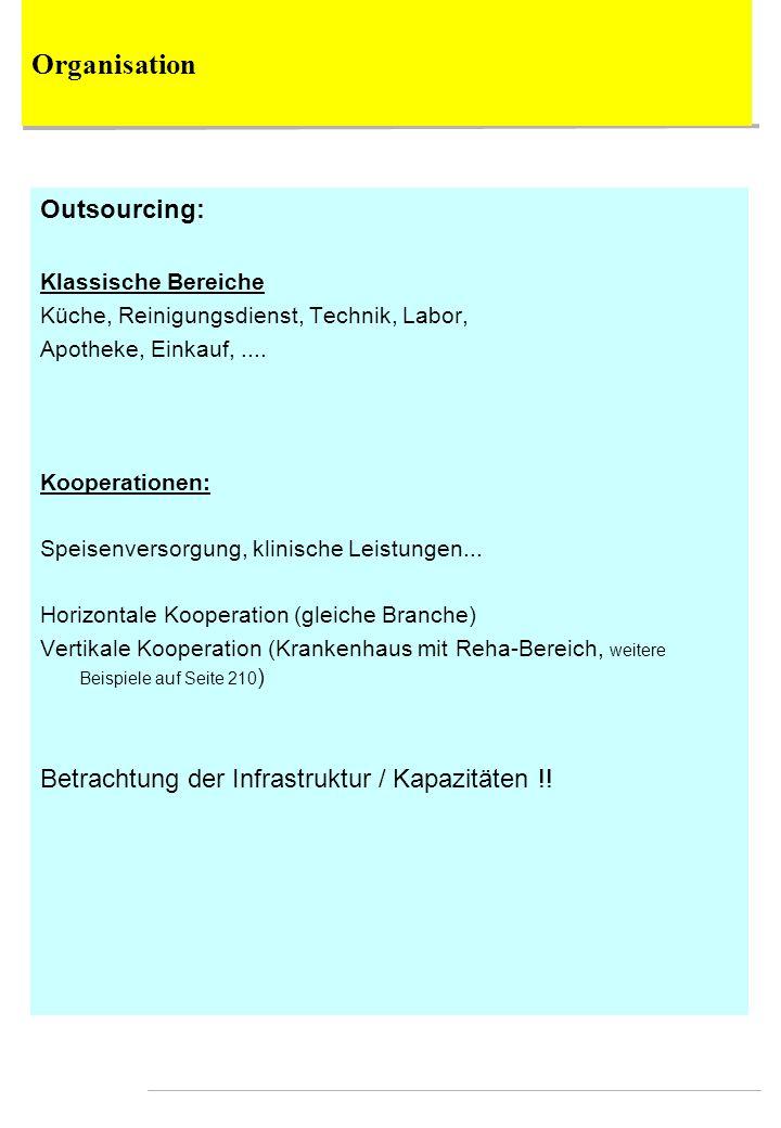 Outsourcing: Klassische Bereiche Küche, Reinigungsdienst, Technik, Labor, Apotheke, Einkauf,.... Kooperationen: Speisenversorgung, klinische Leistunge