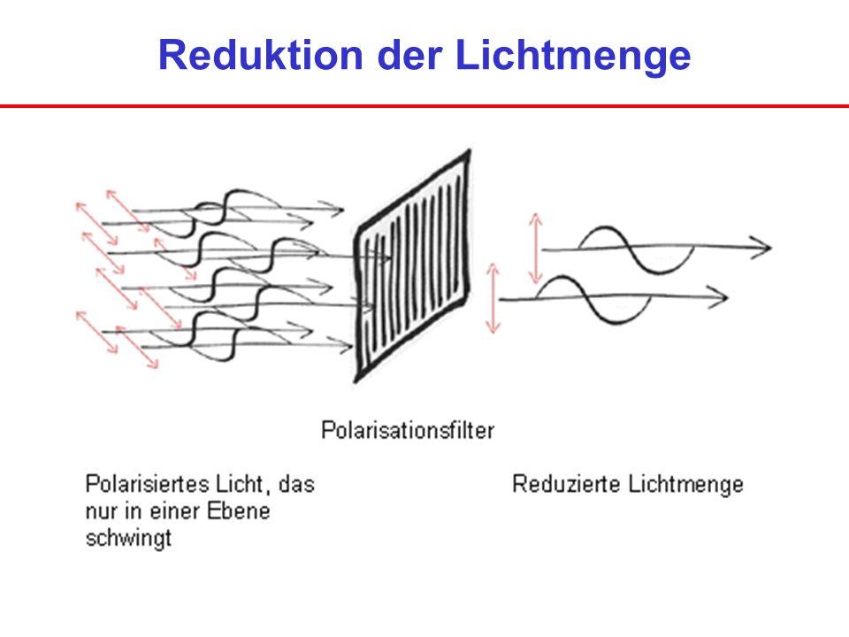 Reduktion der Lichtmenge
