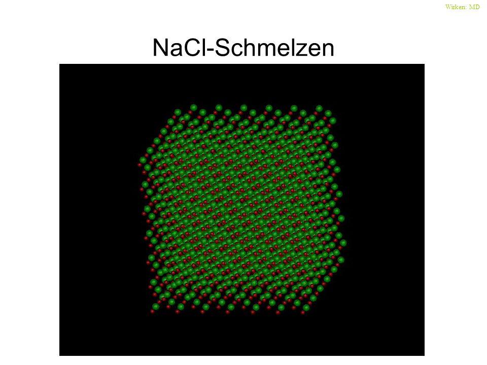 NaCl-Schmelzen Wirken: MD