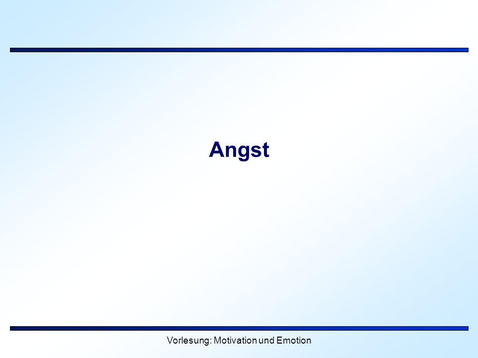 Vorlesung: Motivation und Emotion Angst