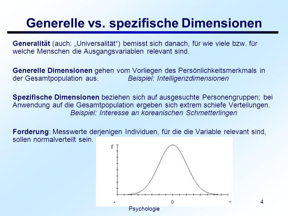 Vorlesung: Differentielle Psychologie 5 Weite vs.