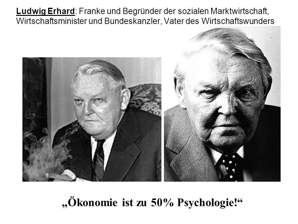 Ludwig Erhard: Franke und Begründer der sozialen Marktwirtschaft, Wirtschaftsminister und Bundeskanzler, Vater des Wirtschaftswunders Ökonomie ist zu