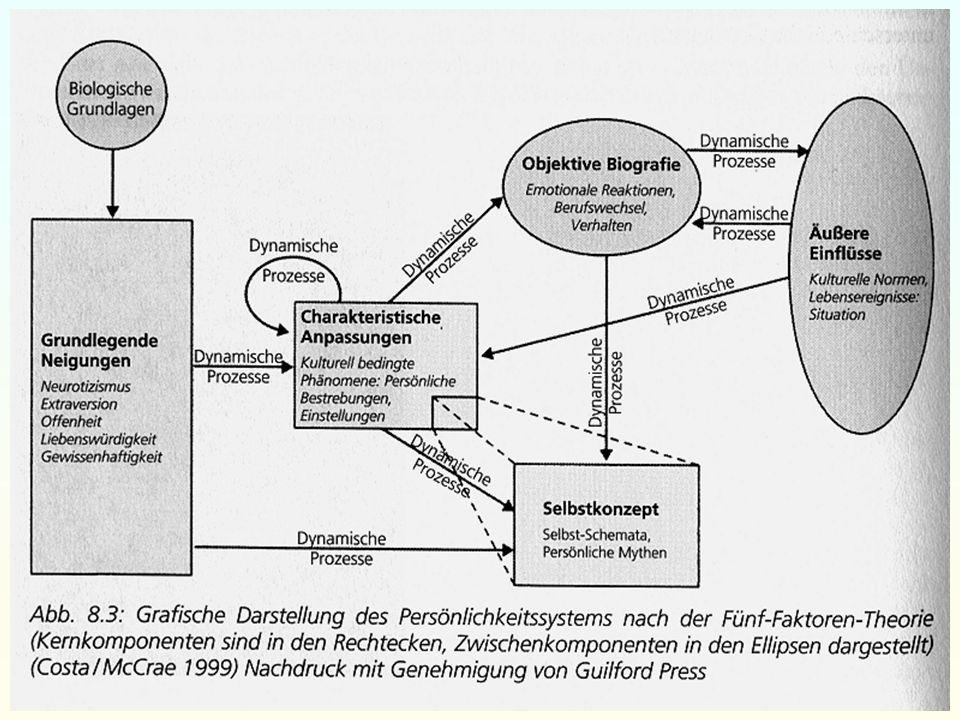 Vorlesung differentielle Psychologie – Mi, 14.12.2005 – Folie 53 / 62 Persönlichkeitswesenszüge Faktorenanalyse Aktueller Forschungsstand (Big Five) P