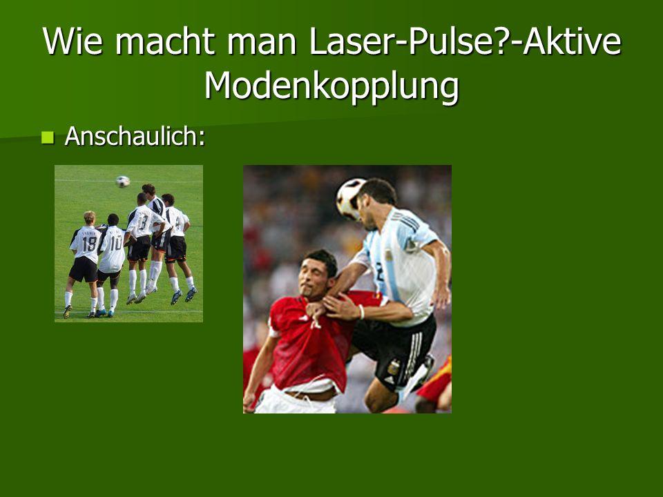 Wie macht man Laser-Pulse?-Aktive Modenkopplung Anschaulich: Anschaulich: