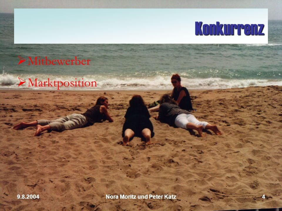 Nora Moritz und Peter Katz49.8.2004 Konkurrenz Mitbewerber Marktposition