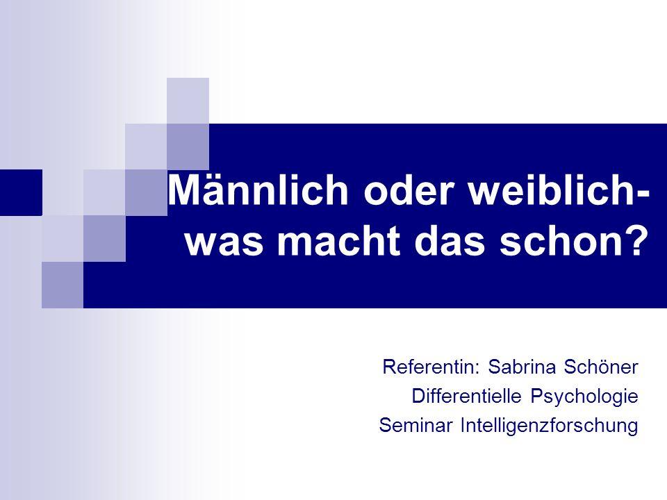 - Seminar Intelligenzforschung -2 In der Summe aller bewerteten Fähigkeiten (Lesekompetenz, Mathematik und Naturwissenschaften) sind Deutschlands Schulmädchen mittlerweile den gleichaltrigen Jungen weit überlegen.