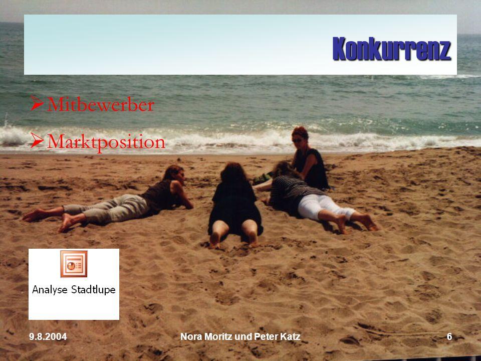 Nora Moritz und Peter Katz59.8.2004 Die Leser der Stadtlupe Erwachsene Jugendliche Studenten Schüler Berufstätige