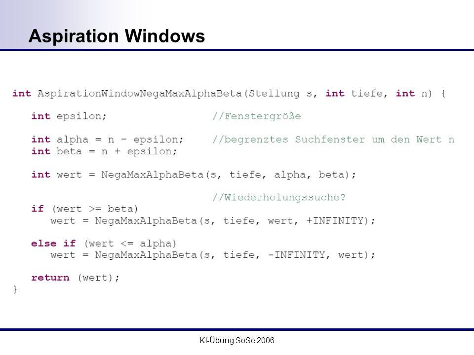 KI-Übung SoSe 2006 Aspiration Windows