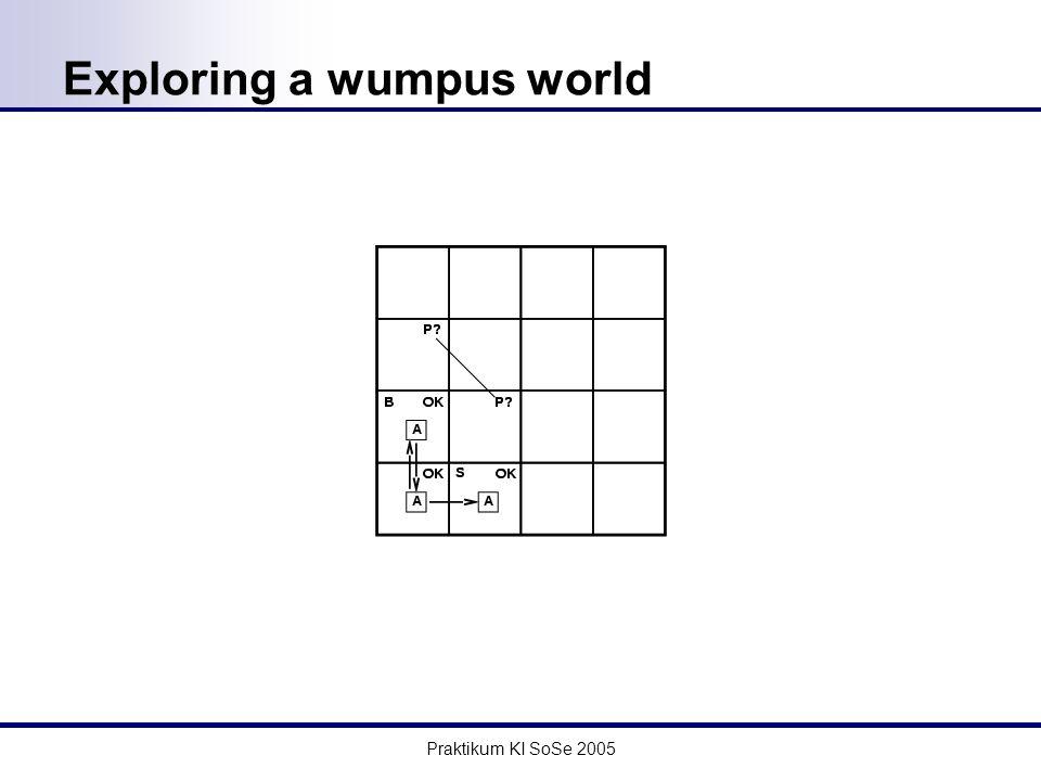 Praktikum KI SoSe 2005 Exploring a wumpus world
