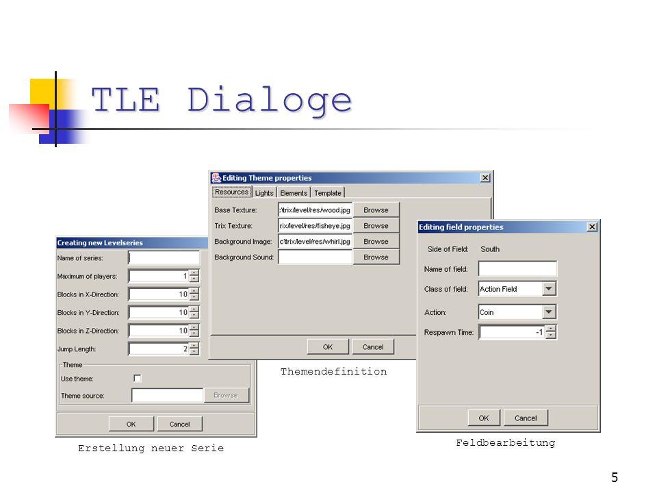 5 TLE Dialoge Feldbearbeitung Themendefinition Erstellung neuer Serie