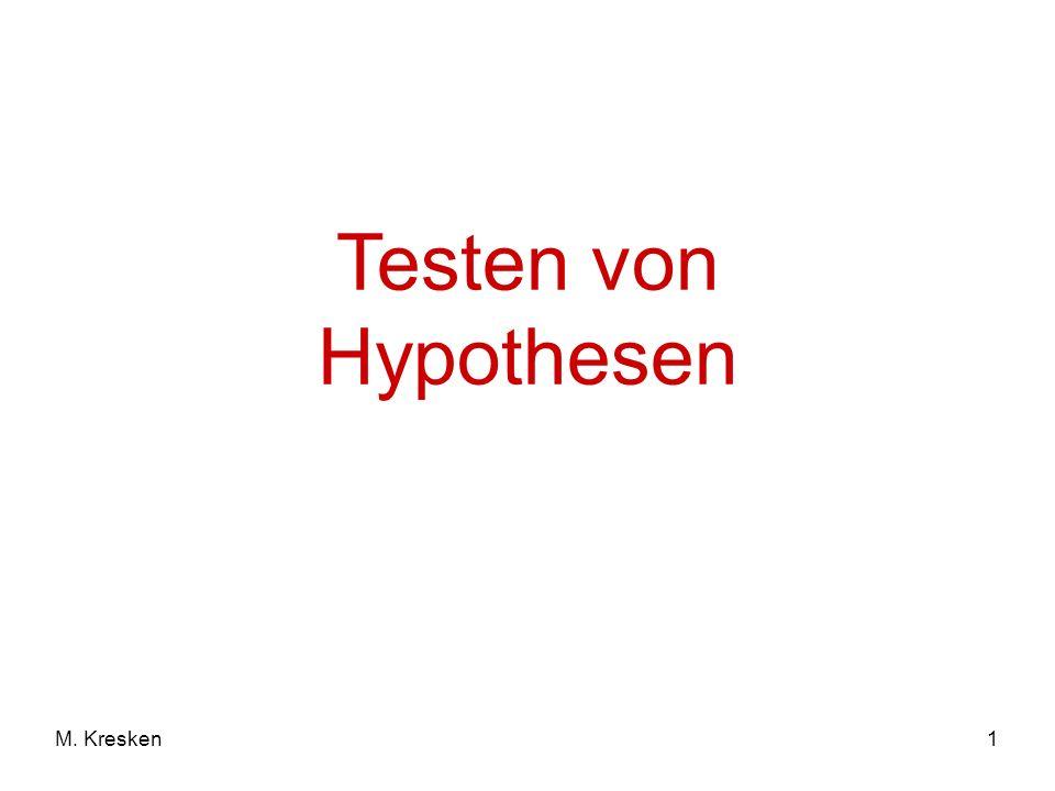 1M. Kresken Testen von Hypothesen