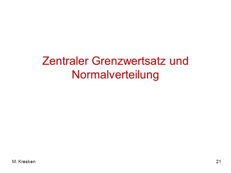 21M. Kresken Zentraler Grenzwertsatz und Normalverteilung