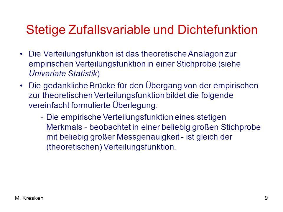 Dichte der Normalverteilung N (, 2 ): Zentraler Grenzwertsatz der Normalverteilung f( ) = 1 2 Beachte: