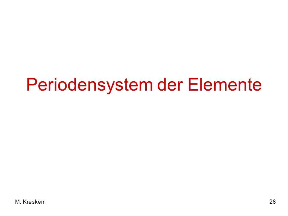 28M. Kresken Periodensystem der Elemente