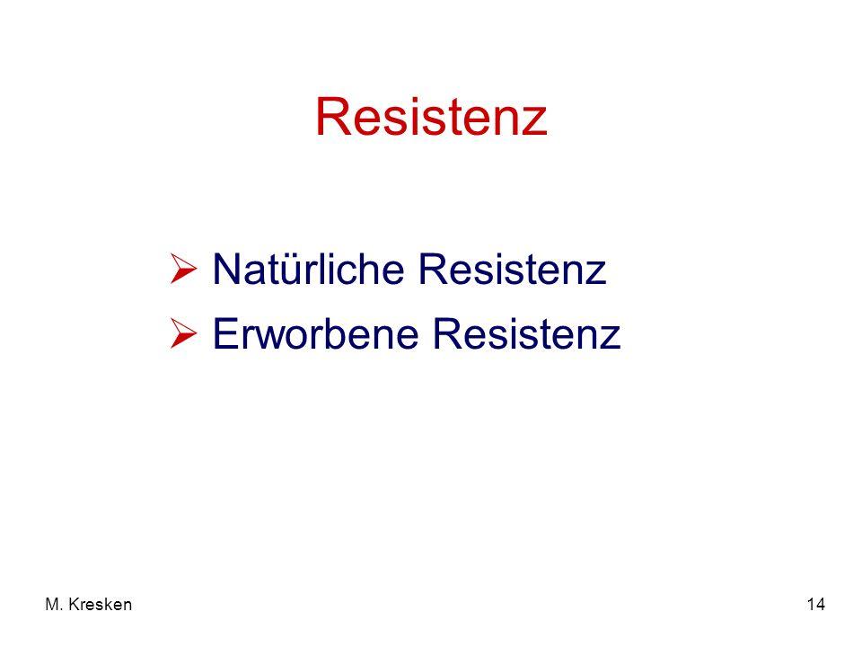 14M. Kresken Resistenz Natürliche Resistenz Erworbene Resistenz