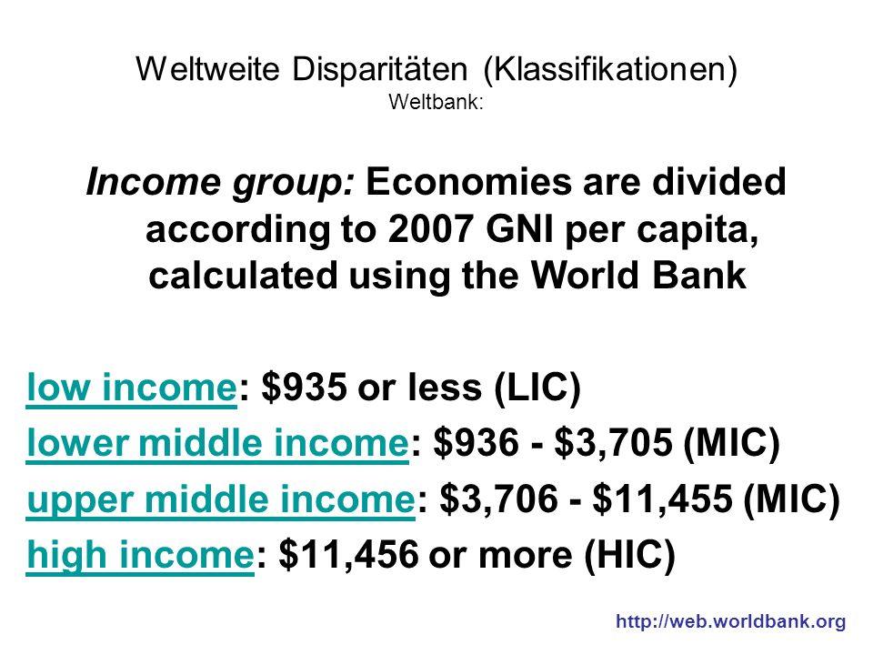 Weltweite Disparitäten - Zusammenfassung Begriffe wie Dritte Welt, 5.