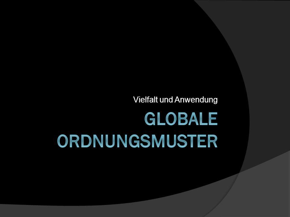 Globale Ordnungsmuster und ihre Anwendung auf den Raum 1.