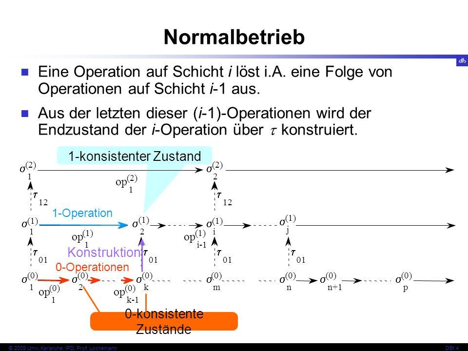 76 © 2009 Univ,Karlsruhe, IPD, Prof.LockemannDBI 4 3 1 0 0 0...