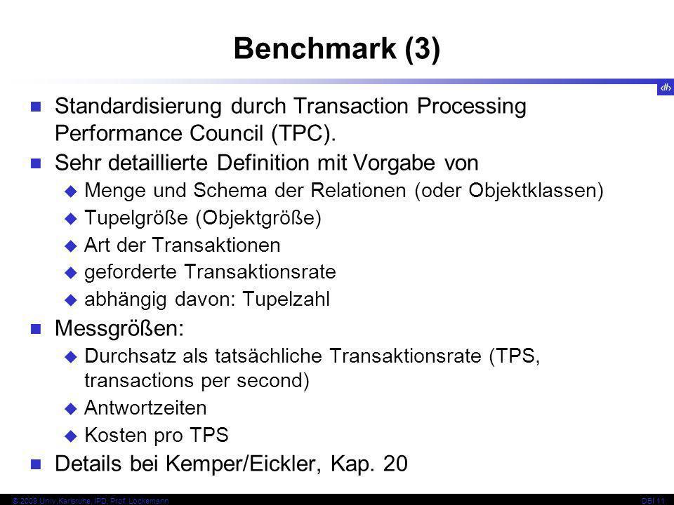 29 © 2009 Univ,Karlsruhe, IPD, Prof.LockemannDBI 11 Einrichten von Segmenten (1) Phys.