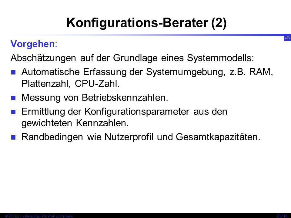 81 © 2009 Univ,Karlsruhe, IPD, Prof.