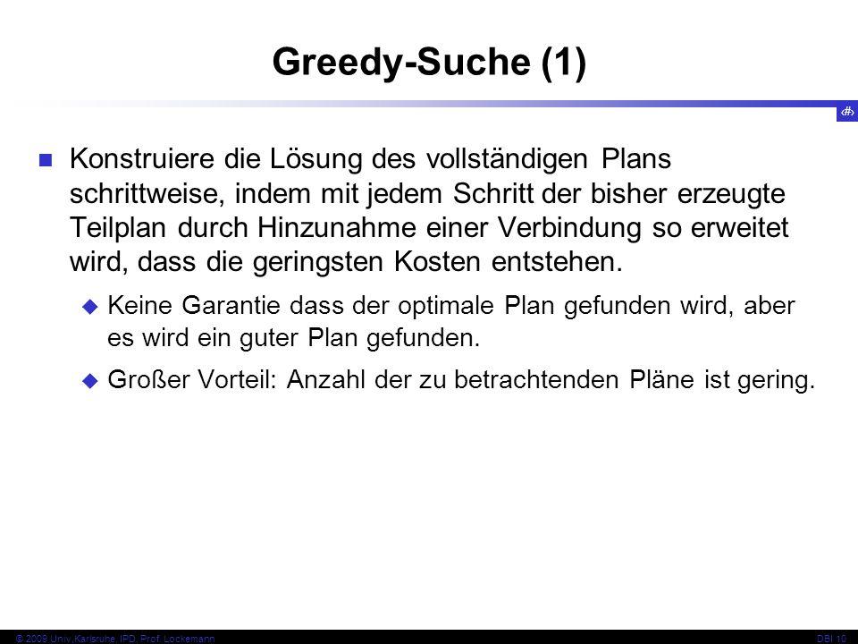 100 © 2009 Univ,Karlsruhe, IPD, Prof.