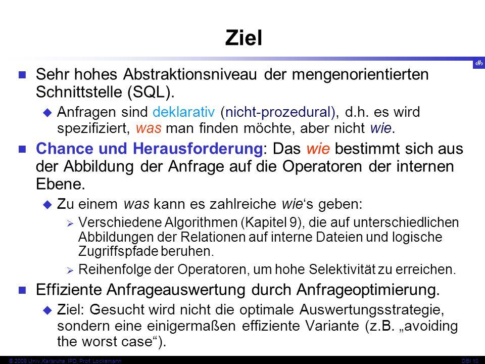 55 © 2009 Univ,Karlsruhe, IPD, Prof.LockemannDBI 10 8.