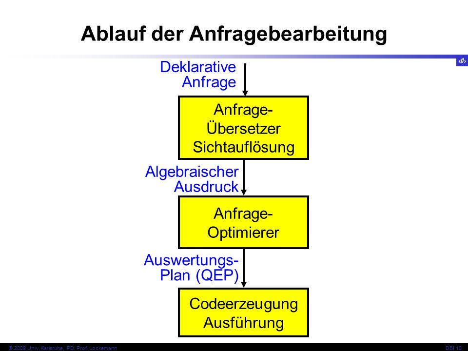 66 © 2009 Univ,Karlsruhe, IPD, Prof.LockemannDBI 10 Anwendung der Regel c 1 c 2...