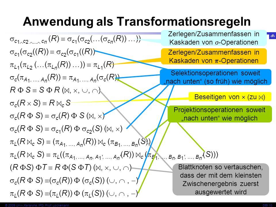 57 © 2009 Univ,Karlsruhe, IPD, Prof. LockemannDBI 10 c 1 c 2...