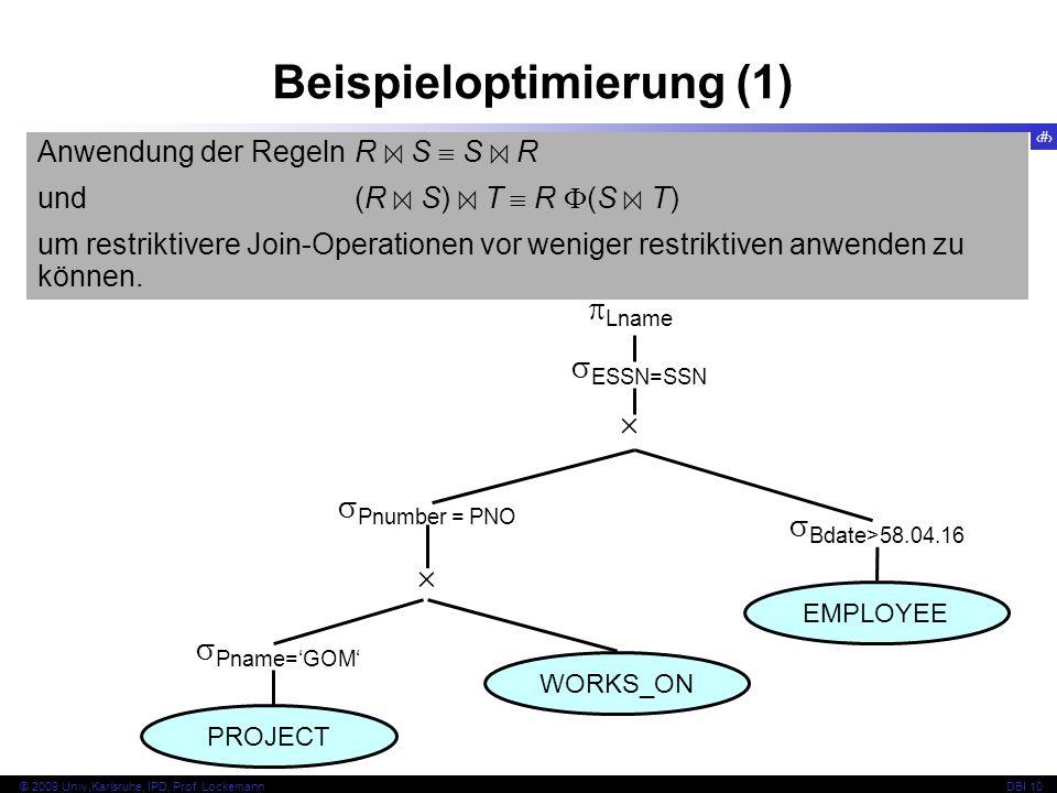 61 © 2009 Univ,Karlsruhe, IPD, Prof.