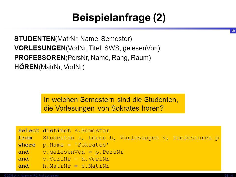 64 © 2009 Univ,Karlsruhe, IPD, Prof.